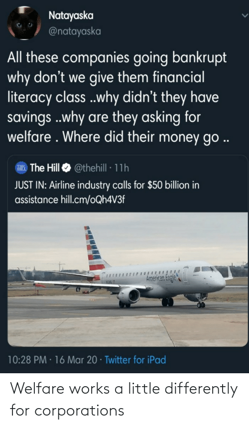 works: Welfare works a little differently for corporations