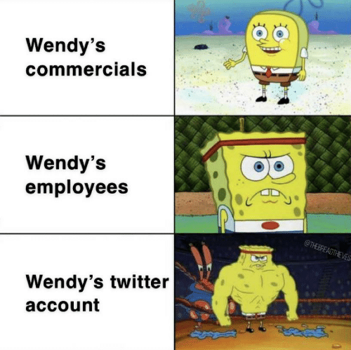wendys: Wendy's  commercials  Wendy's  employees  @THEBREADTHEVES  Wendy's twitter  account