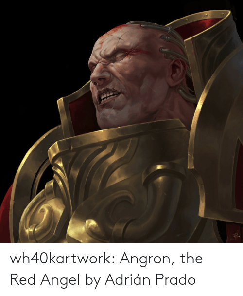 The Red: wh40kartwork:  Angron, the Red Angel by  Adrián Prado