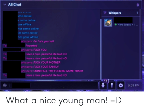 Young: What a nice young man! =D