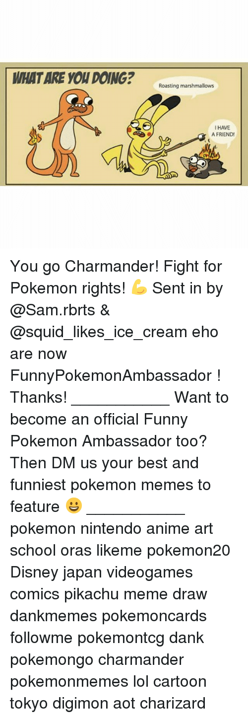 Anime, Charmander, and Dank: WHAT ARE YOU DOING?ating nanmalon  I HAVE  A FRIEND You go Charmander! Fight for Pokemon rights! 💪 Sent in by @Sam.rbrts & @squid_likes_ice_cream eho are now FunnyPokemonAmbassador ! Thanks! ___________ Want to become an official Funny Pokemon Ambassador too? Then DM us your best and funniest pokemon memes to feature 😀 ___________ pokemon nintendo anime art school oras likeme pokemon20 Disney japan videogames comics pikachu meme draw dankmemes pokemoncards followme pokemontcg dank pokemongo charmander pokemonmemes lol cartoon tokyo digimon aot charizard