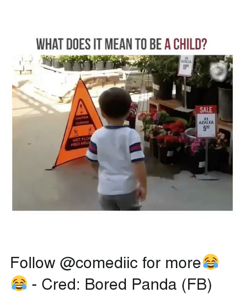 Flo: WHAT DOES IT MEAN TO BE A CHILD?  AZALE  SALE  CAUTION  #2  AZALEA  59  WET FLO  PISO MOJ Follow @comediic for more😂😂 - Cred: Bored Panda (FB)