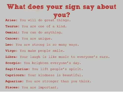 What Does Your Sign Say About You? Aries You Wili Do Great