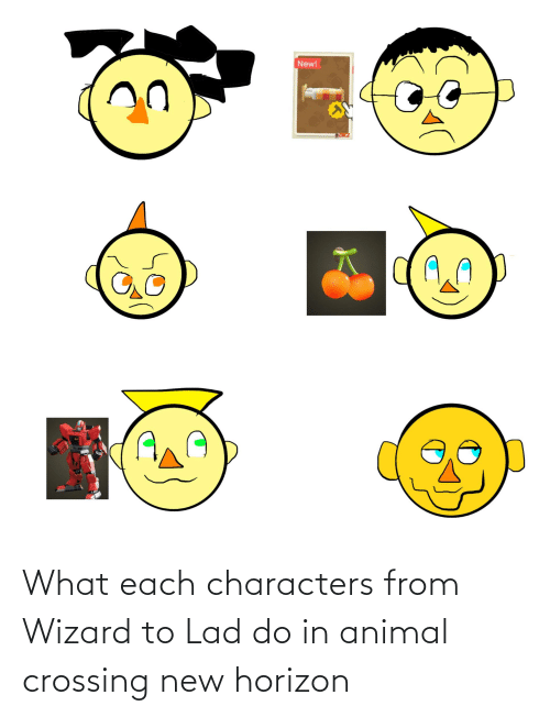 lad: What each characters from Wizard to Lad do in animal crossing new horizon