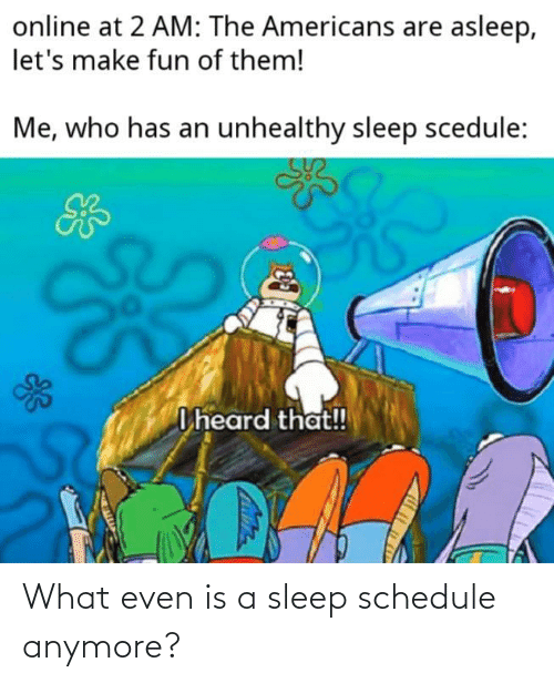 Schedule: What even is a sleep schedule anymore?