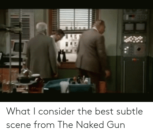 What I: What I consider the best subtle scene from The Naked Gun