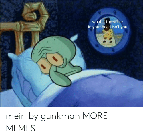 Dank, Head, and Memes: what if the voice  in your head isn't you meirl by gunkman MORE MEMES