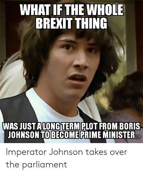 WHAT IF THE WHOLE BREXIT THING WAS JUST ALONGTERM PLOT FROM