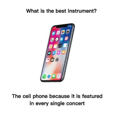 Featured: What is the best instrument?  12  The cell phone because it is featured  in every single concert