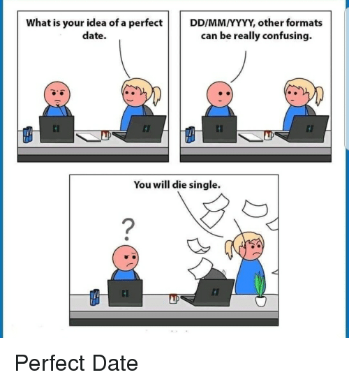 What Is Your Idea Of A Perfectddmmyyyy Other Formats Date Can Be