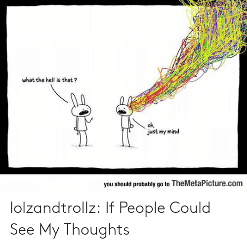 Tumblr, Blog, and Http: what the hell is that?  oh,  just my mind  you should probably go to TheMetaPicture.com lolzandtrollz:  If People Could See My Thoughts