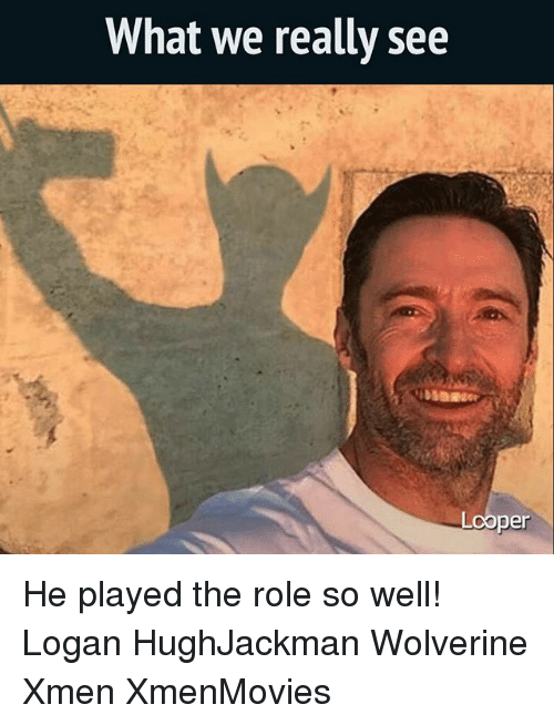 loopers: What we really see  Looper He played the role so well! Logan HughJackman Wolverine Xmen XmenMovies