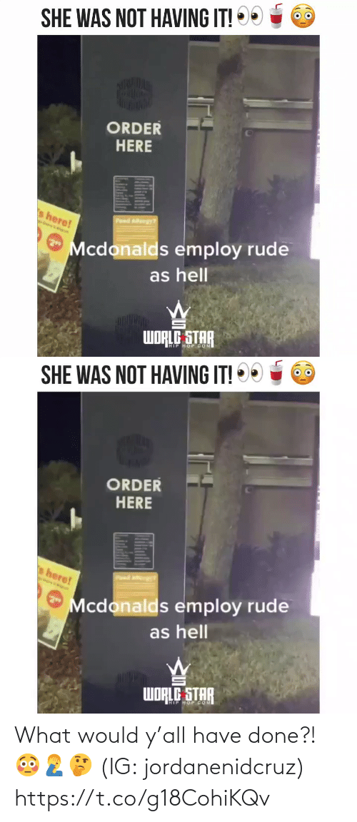 What Would: What would y'all have done?! 😳🤦♂️🤔 (IG: jordanenidcruz) https://t.co/g18CohiKQv