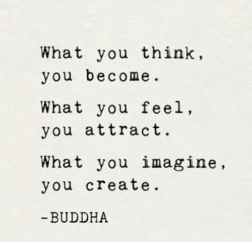 Buddha, Create, and Imagine: What you think,  you become  What you feel,  you attract.  What you imagine,  you create.  -BUDDHA