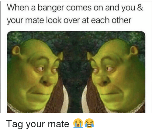 Funny, You, and Look: When a banger comes on and you &  your mate look over at each other Tag your mate 😭😂