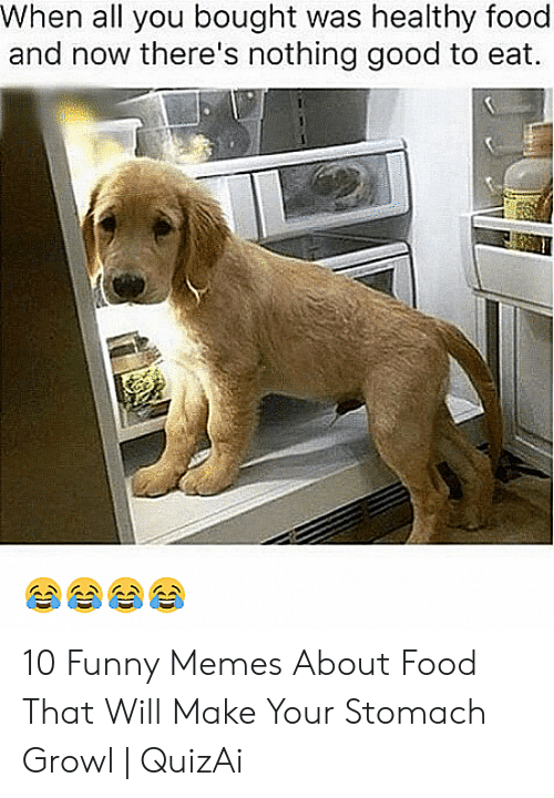 When All You Bought Was Healthy Food And Now There S Nothing Good To Eat 10 Funny Memes About Food That Will Make Your Stomach Growl Quizai Food Meme On Awwmemes Com