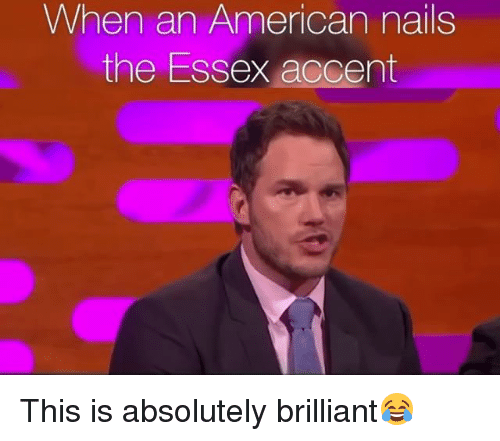 essex: When an American nails  the Essex accent This is absolutely brilliant😂