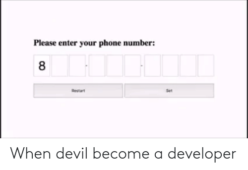 developer: When devil become a developer