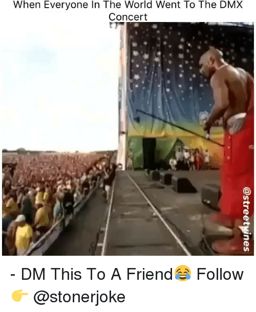 DMX: When Everyone In The World Went To The DMX  Concert - DM This To A Friend😂 Follow 👉 @stonerjoke