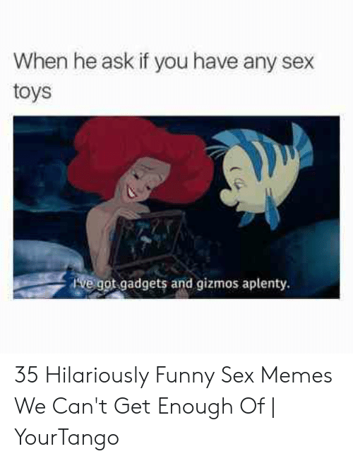 Funny Sex Memes: When he ask if you have any sex  toys  Ive got gadgets and gizmos aplenty. 35 Hilariously Funny Sex Memes We Can't Get Enough Of | YourTango