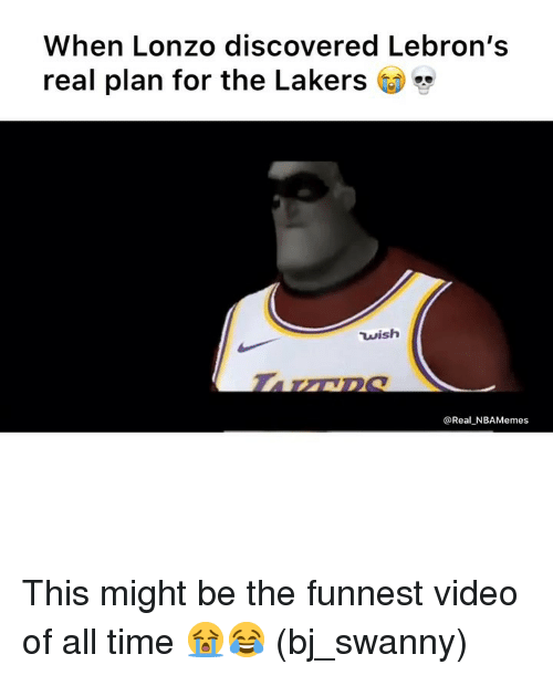 Los Angeles Lakers, Nba, and Time: When Lonzo discovered Lebron's  real plan for the Lakers CD  wish  @Real NBAMemes This might be the funnest video of all time 😭😂 (bj_swanny)