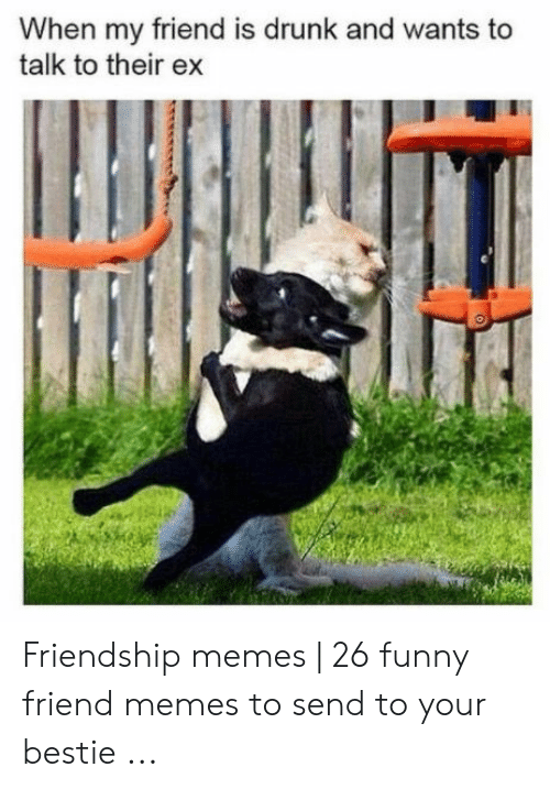 Drunk, Funny, and Memes: When my friend is drunk and wants to  talk to their ex Friendship memes | 26 funny friend memes to send to your bestie ...