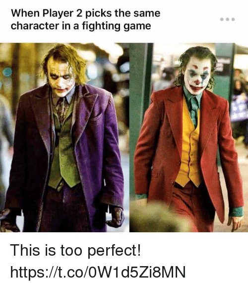 fighting game: When Player 2 picks the same  character in a fighting game This is too perfect! https://t.co/0W1d5Zi8MN