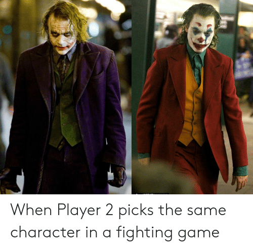 fighting game: When Player 2 picks the same character in a fighting game