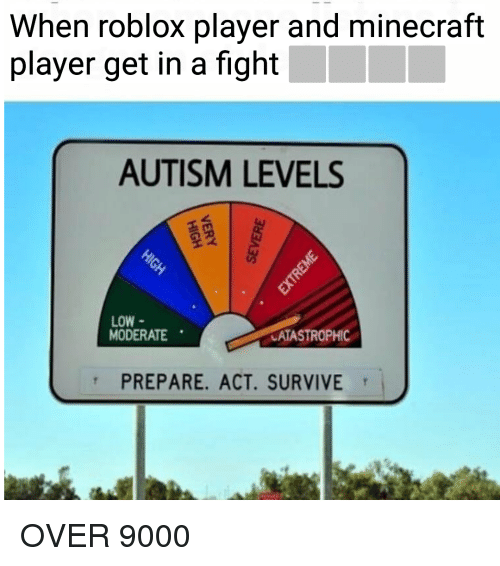 when roblox player and minecraft player get in a fight 32573628 when roblox player and minecraft player get in a fight autism levels