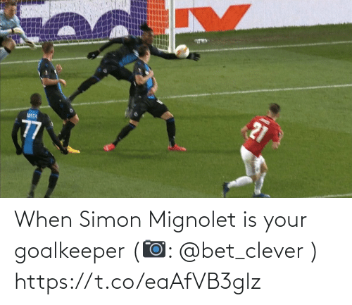 bet: When Simon Mignolet is your goalkeeper   (📷: @bet_clever ) https://t.co/eaAfVB3glz