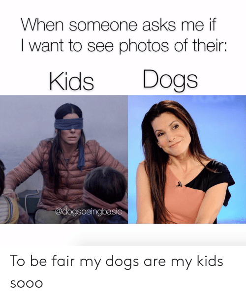 i want to see: When someone asks me if  I want to see photos of their:  Kids Dogs  @dogsbeingbasic To be fair my dogs are my kids sooo