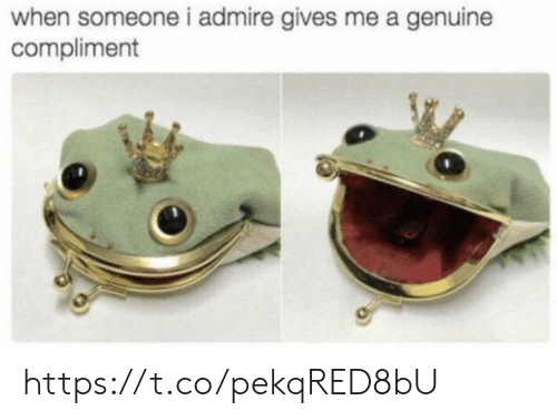 genuine: when someone i admire gives me a genuine  compliment https://t.co/pekqRED8bU