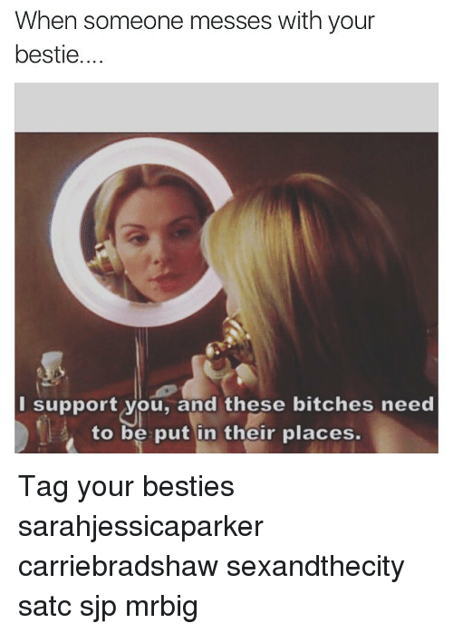 sjp: When someone messes with your  bestie....  I support you, and these bitches need  to be put in thefir places. Tag your besties sarahjessicaparker carriebradshaw sexandthecity satc sjp mrbig