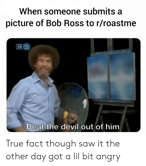 c6b43694612f8 When Someone Submits a Picture of Bob Ross to Rroastme Beat the ...