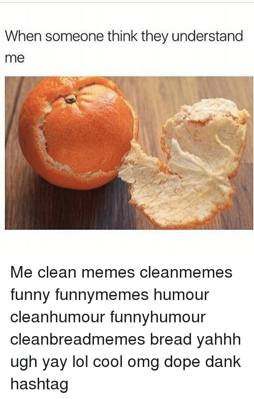 Clean Memes: When someone think they understand  me Me clean memes cleanmemes funny funnymemes humour cleanhumour funnyhumour cleanbreadmemes bread yahhh ugh yay lol cool omg dope dank hashtag