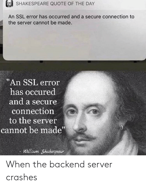 When The: When the backend server crashes