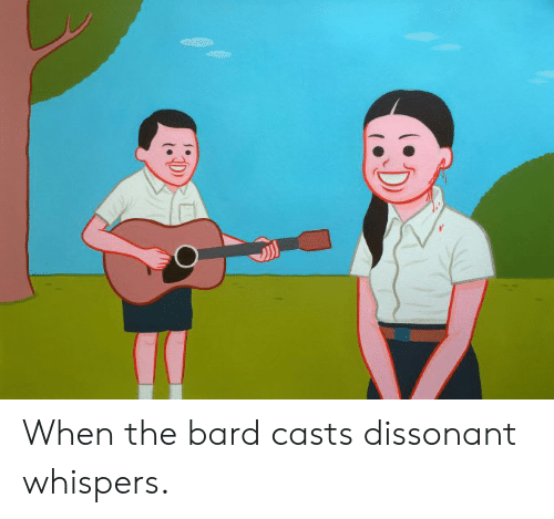 When the Bard Casts Dissonant Whispers | DnD Meme on awwmemes com