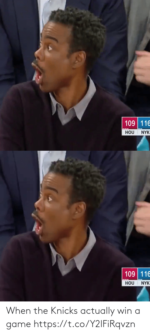 A Game: When the Knicks actually win a game https://t.co/Y2lFiRqvzn