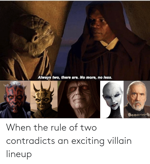 Villain: When the rule of two contradicts an exciting villain lineup