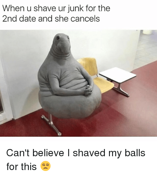 Photos of shaved balls