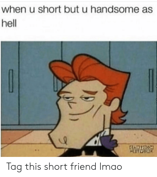 Funny, Lmao, and Hell: when u short but u handsome as  hell Tag this short friend lmao