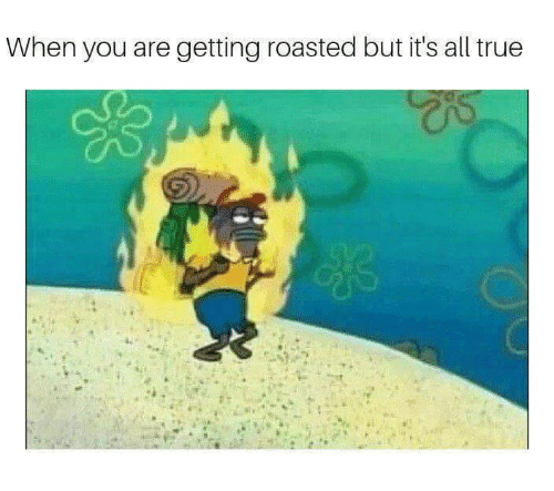 Getting Roasted: When you are getting roasted but it's all true