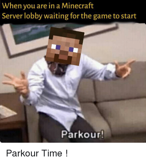 lobby: When you are in a Minecraft  Server lobby waiting for the game to start  Parkour Parkour Time !