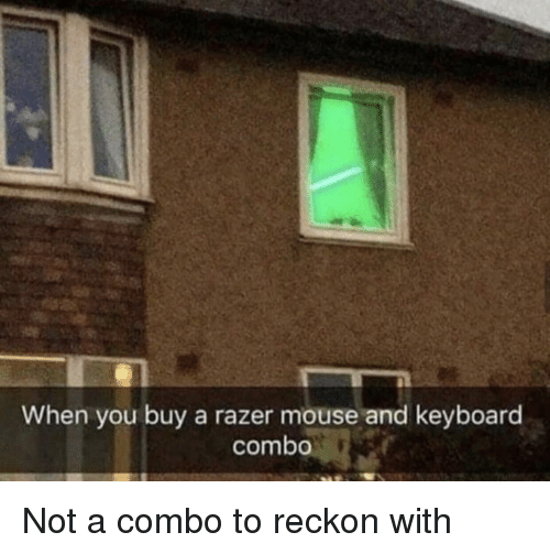 Keyboard, Mouse, and Razer: When you buy a razer mouse and keyboard  combo Not a combo to reckon with
