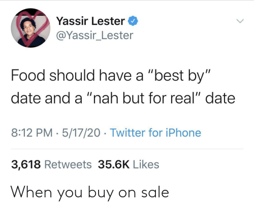 sale: When you buy on sale