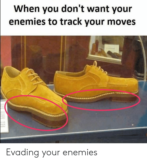 Your Moves: When you don't want your  enemies to track your moves Evading your enemies