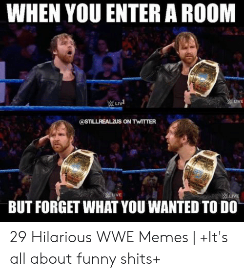 Hilarious Wwe: WHEN YOU ENTER A ROOM  LIVE  BUT FORGET WHAT YOU WANTED TO DO 29 Hilarious WWE Memes | +It's all about funny shits+
