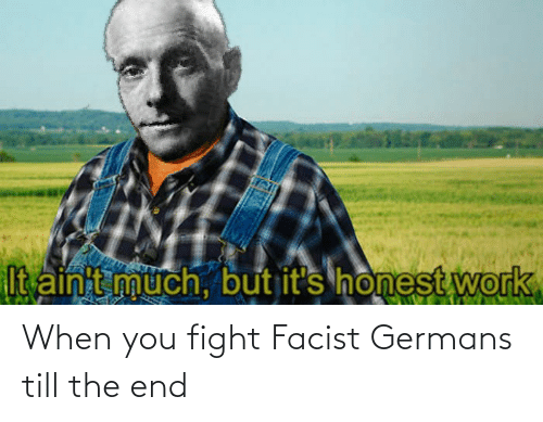 germans: When you fight Facist Germans till the end