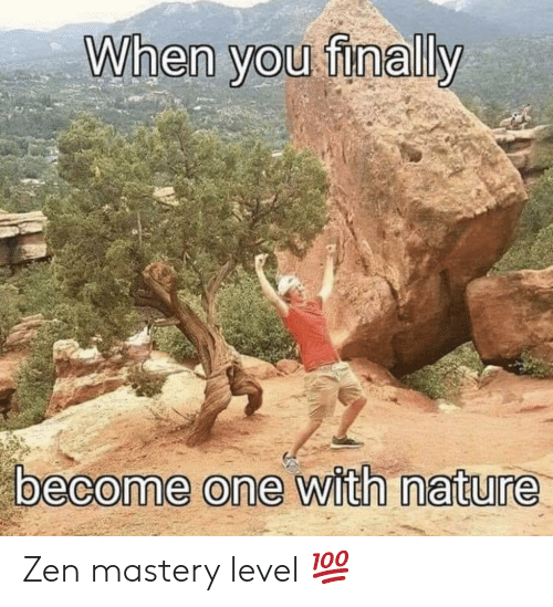 Nature, Zen, and One: When you finally  become one with nature Zen mastery level 💯