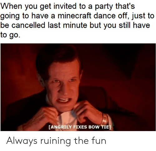 When You Get Invited to a Party That's Going to Have a Minecraft